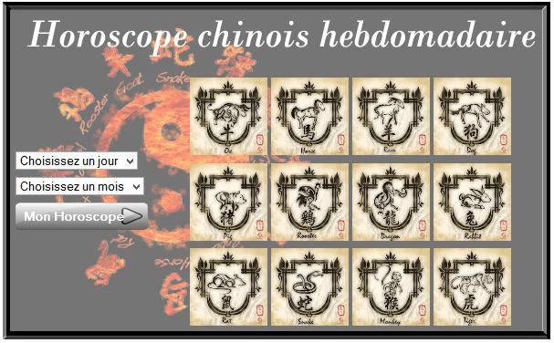 Horoscope chinois hebdomadaire