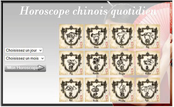horoscope chinois quotidien